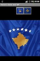Screenshot of Republic of Kosovo flag clocks