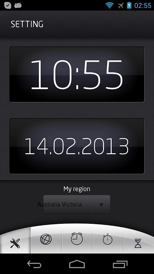 World time with alarm - screenshot