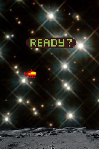 太空中的直昇機 - 飛越隕石陣