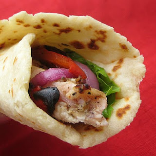 Chicken Caesar Pita Wraps