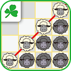 Four sheep in a row icon