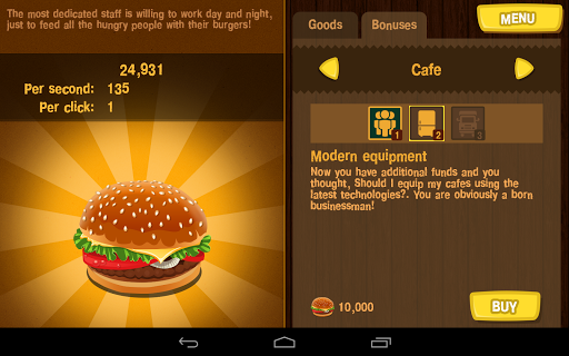 Burger Clicker 1.1.2 screenshots 10