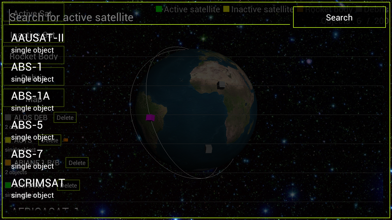 Satellite 3D - screenshot