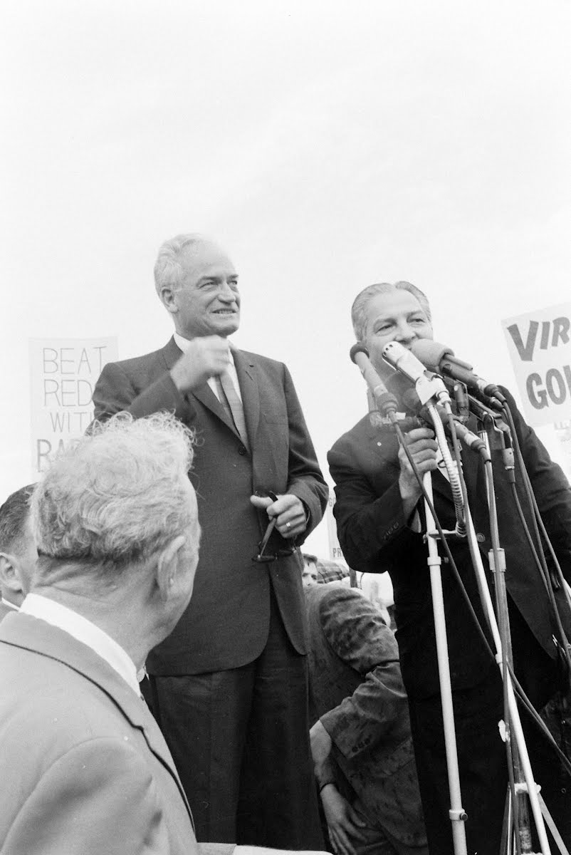 Barry Goldwater Arrival In Washington D. C.