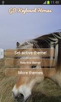 Screenshot of GO Keyboard Horses