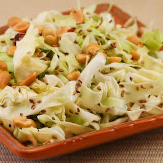 Asian Cabbage Salad with Sesame Seeds.