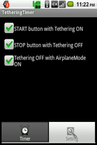 TetheringTimer- screenshot