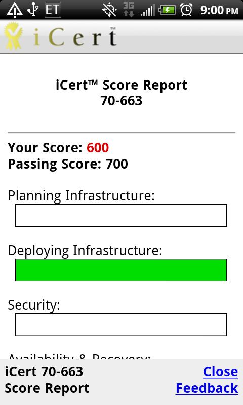 iCert 220-701 Practice Exam A+ - screenshot