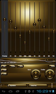 Poweramp skin Schwarzes Gold Screenshot