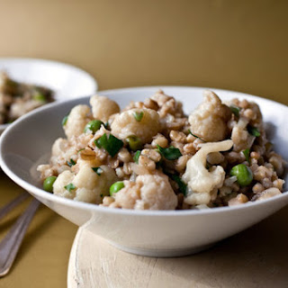 Purple Barley Risotto With Cauliflower