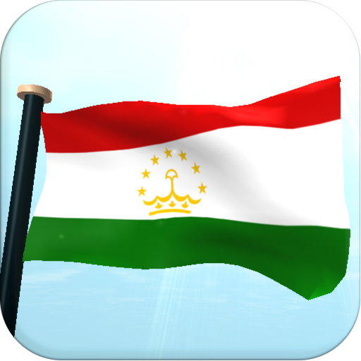 Tajikistan Flag 3D Free