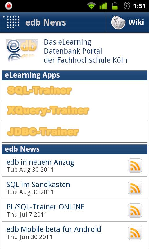 edb Mobile (beta)- screenshot