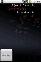 Screenshot of Algebra Tutor