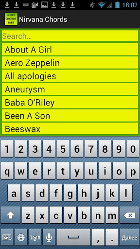 Download Nirvana Lyrics and Chords Google Play softwares ...