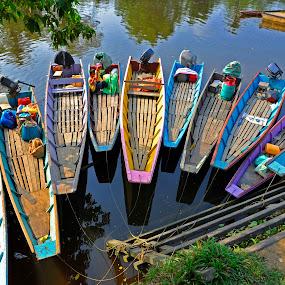 River boat by Naising Bega - Transportation Boats ( river transportation )