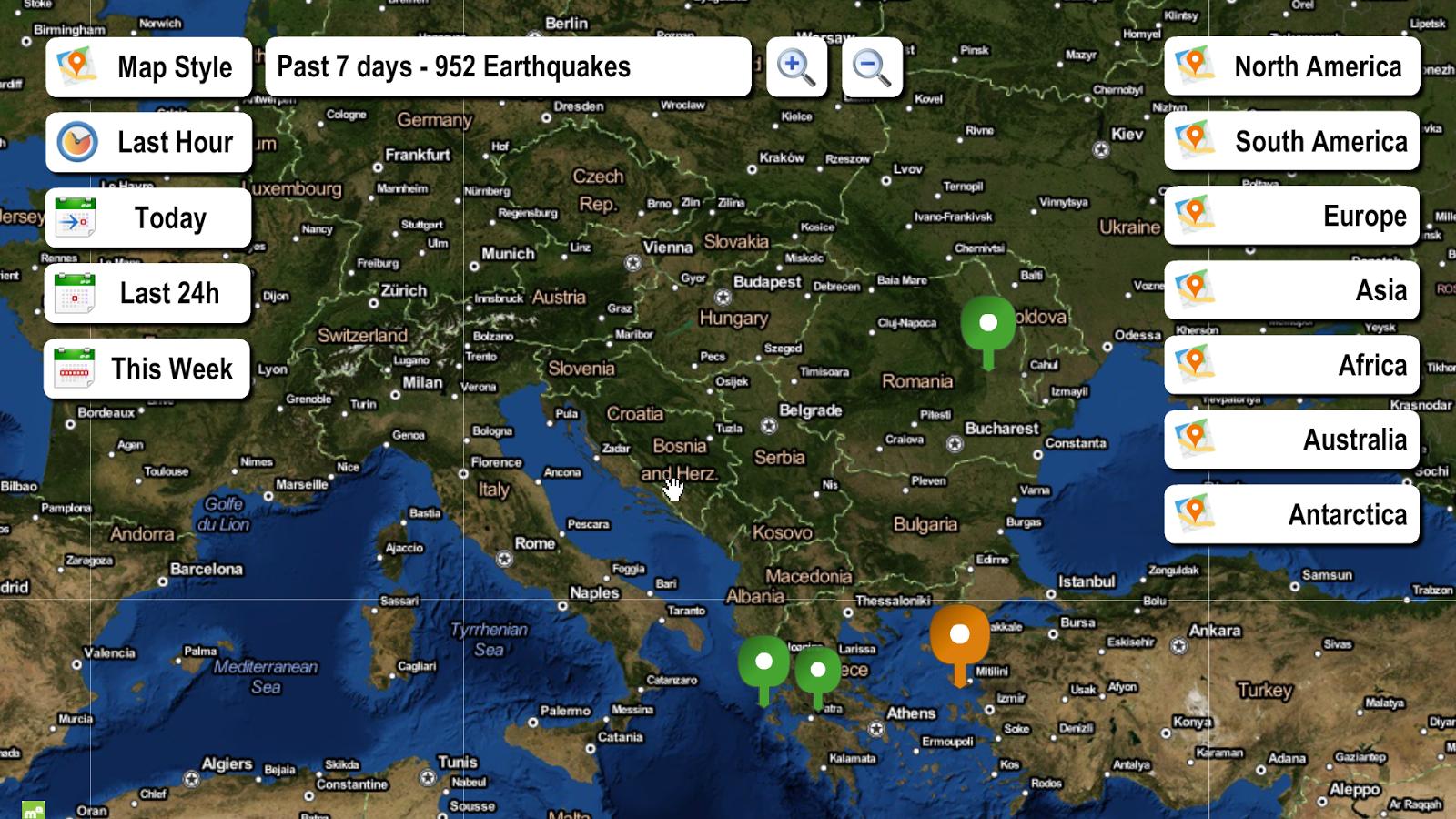 live earthquake map  android apps on google play - live earthquake map screenshot