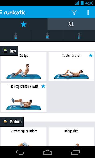 Runtastic Six Pack Abs Workout & AbTrainer 1.8 screenshots 2