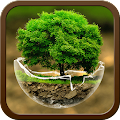 2018HD Green Nature Cartoon Theme for android free download