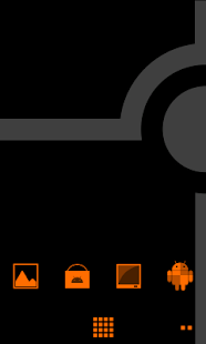 Minimalist_Orange - ADW Theme- screenshot thumbnail