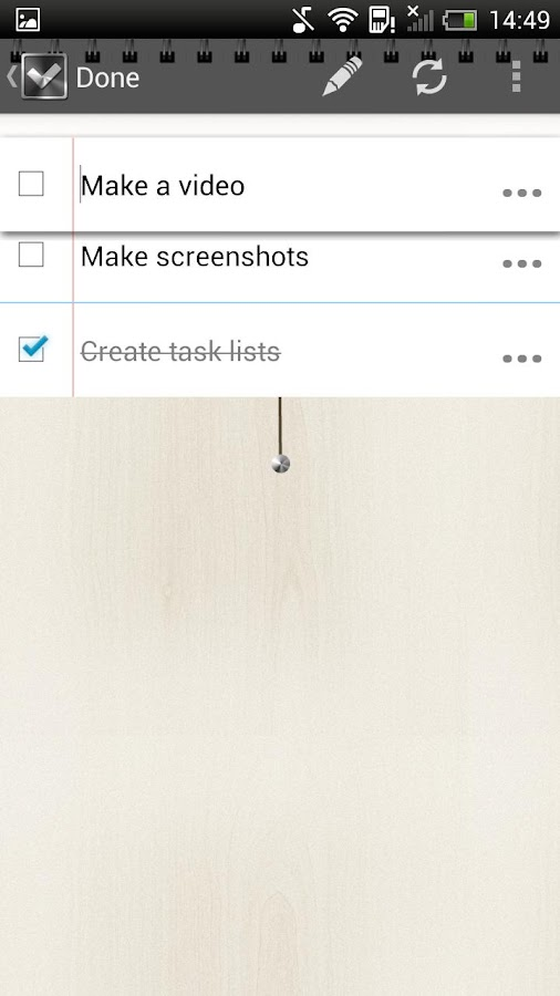 Done • To do list / Task list- screenshot
