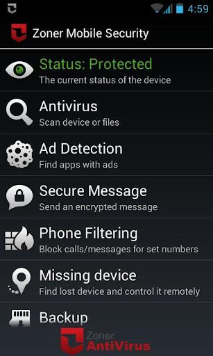 Zoner Mobile Security  screenshots 1