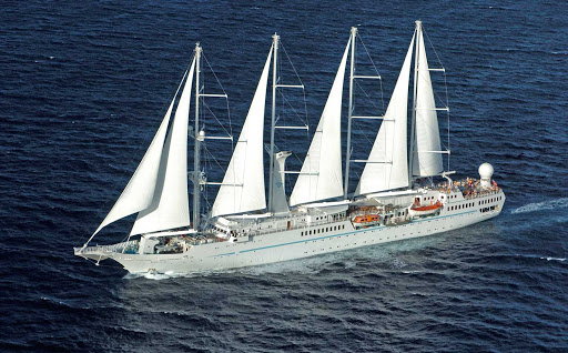 Windstar-Cruises-Wind-Spirit - Wind Spirit, a computer-controlled yacht-style sailing ship, now sails to Tahiti.