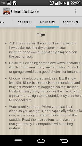 Clean Suitcase