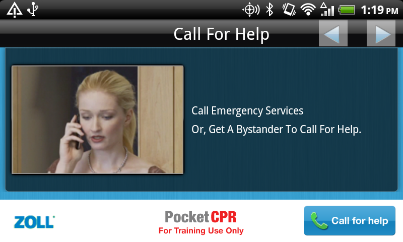 ZOLL PocketCPR - screenshot
