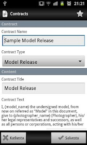 Model Release Master (ads) screenshot 2
