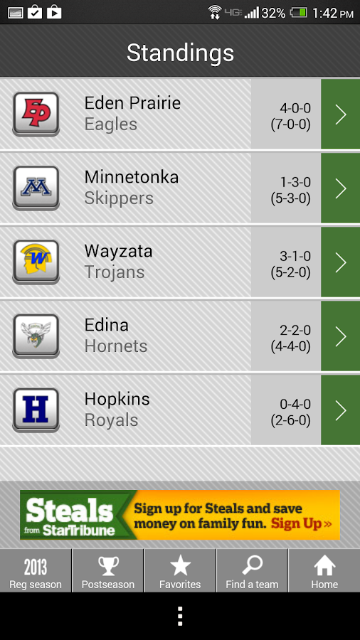MN High School Football - screenshot