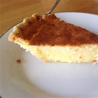 Buttermilk Pie with Molasses