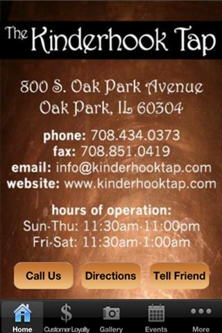 Kinderhook Tap - screenshot