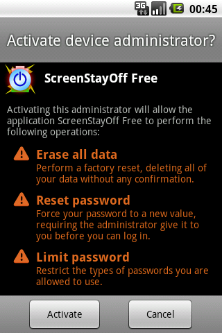 Screen Stay Off