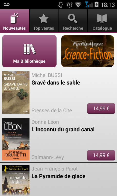 Numilog eBook Reader - screenshot