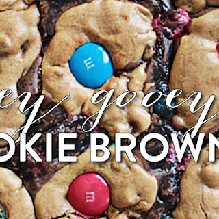 Ooey Gooey Cookie Brownies with M&M's