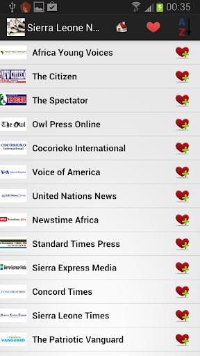 塞拉利昂报纸和新闻