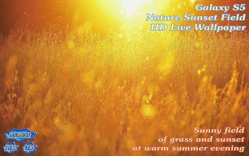 【免費個人化App】Galaxy S5 Nature Sunset Field-APP點子