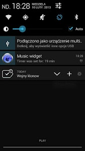 Music Widget with Sleep Timer screenshot 2