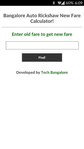 Bangalore Auto New Fare Calc