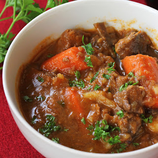 Beef Stew with Beer and Horseradish
