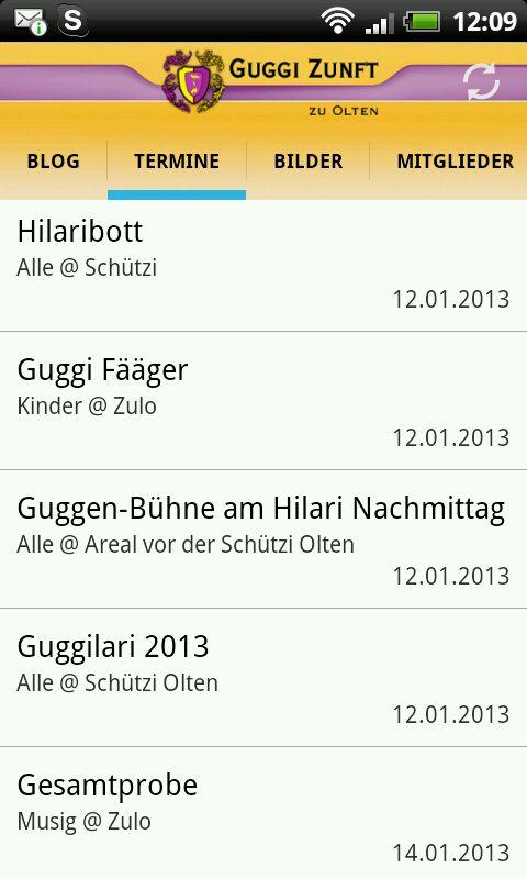 Guggi Zunft - screenshot