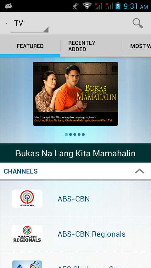 iWant TV for ABS-CBNmobile - screenshot