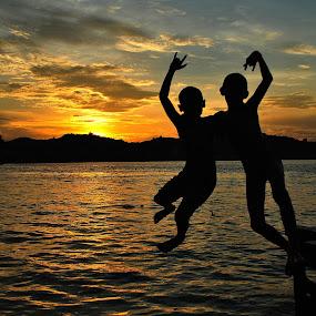 Jump together. by Arief Tisnadi Wasono - Babies & Children Children Candids (  )