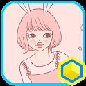 봄의 토끼소녀 카카오홈 테마