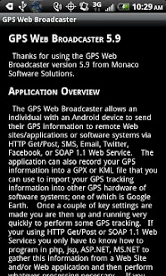 GPS Web Broadcaster - screenshot thumbnail
