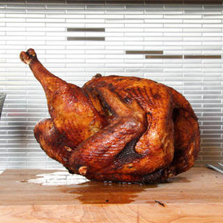 Fried Turkey with Southern Rub.