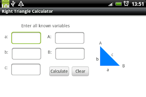 right triangle calculator In a right triangle, the sine of an angle is defined as the length of the side opposite the angle divided by the hypotenuse of the triangle the abbreviation for sine found in equations and on calculators is sin.