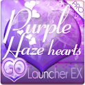 Purple Haze Hearts GO Launcher logo