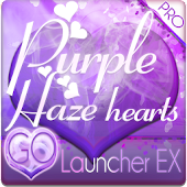 Purple Haze Hearts GO Launcher