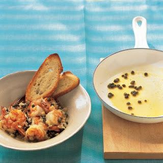 Sauteed Shrimp with Garlic Toast.